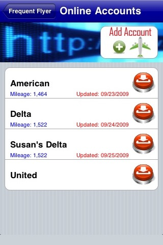 Frequent Flyer Mileage Tracker and Flight Log screenshot-4