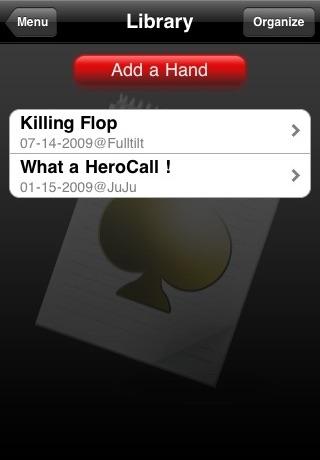 Poker Notebook screenshot two