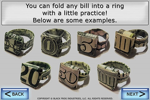 Dollar Ring Origami screenshot-1