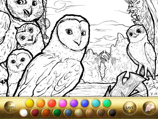Pictures To Coloring Pages App : Legend of the guardians the owls of ga hoole on the app store