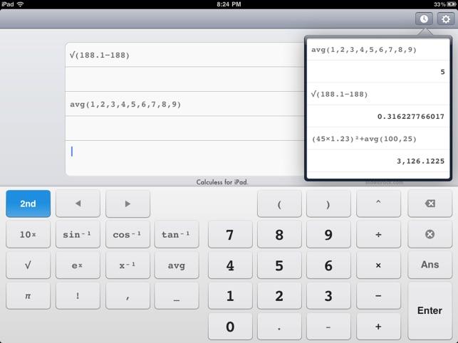 Calculess Free Scientific Calculator For Ipad 4