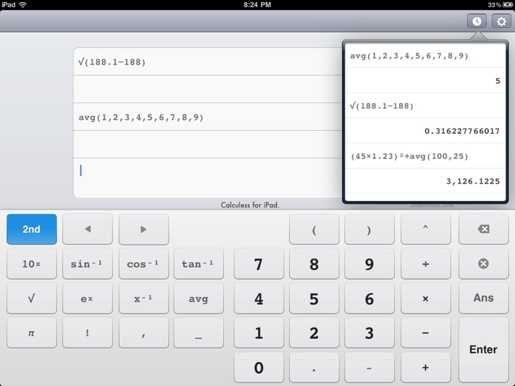 Calculess Free - Scientific Calculator for iPad