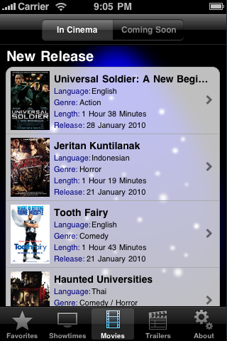 Screenshot #3 pour CineApps Malaysia