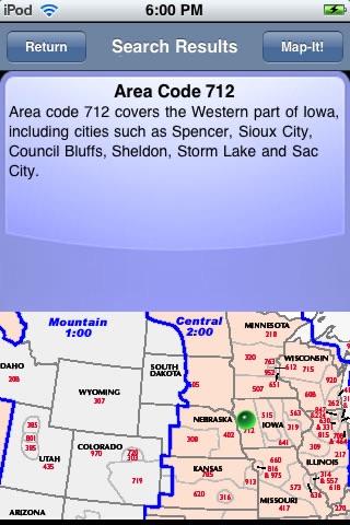 Area Code Info screenshot-3