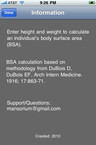BSA Pocket Calculator