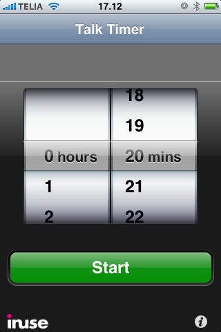 Screenshot of Talk Timer - Countdown Clock for Speeches, Lectures and Presentations