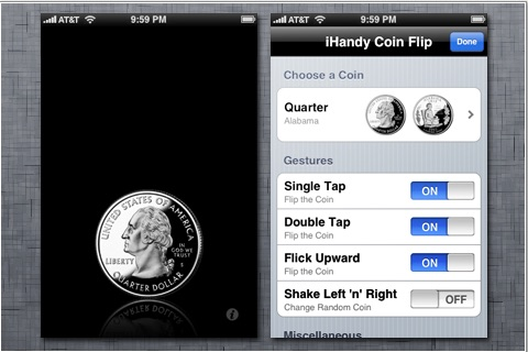 iHandy Coin Flip screenshot-1
