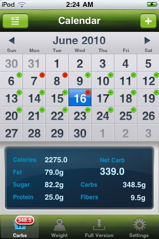 Carb Master Free - Daily Carbohydrate Tracker screenshot-1