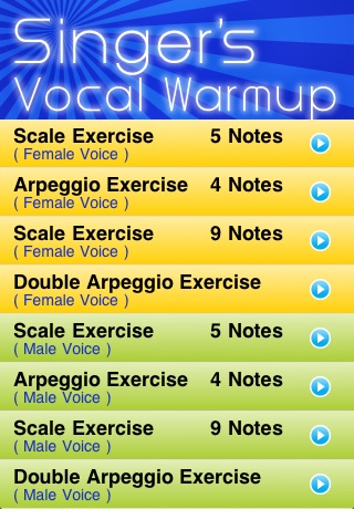 Singer's Vocal Warmup