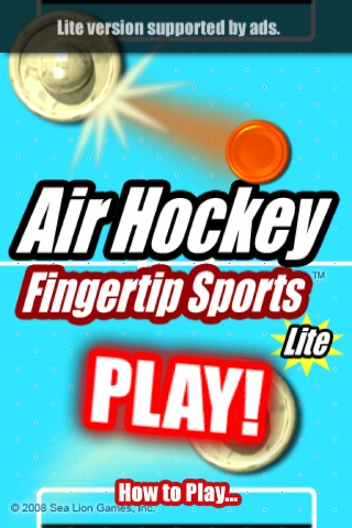 Air Hockey Fingertip Sports Lite screenshot-0