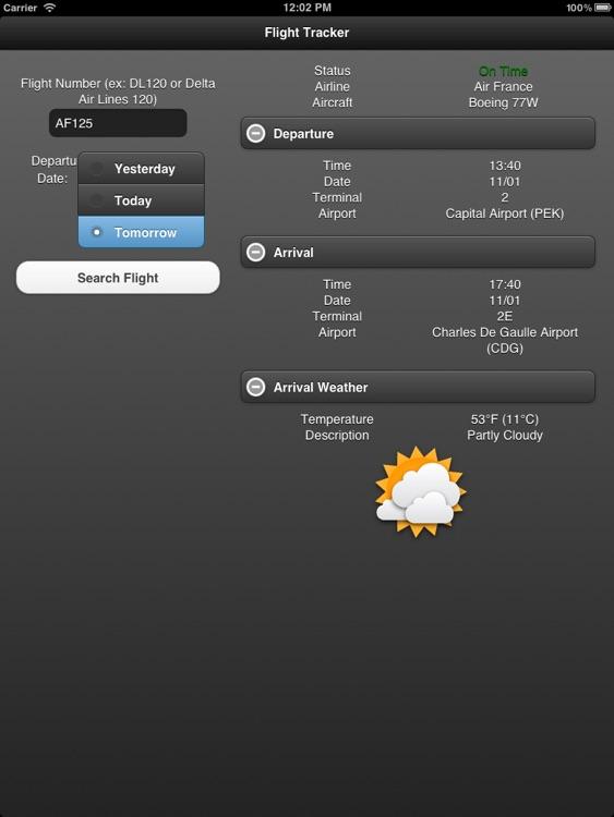 Flight Tracker for iPad Free