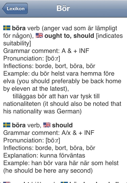 Lexikon Swedish - English Dictionary