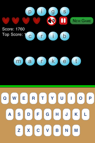 The Typing Game Free screenshot one