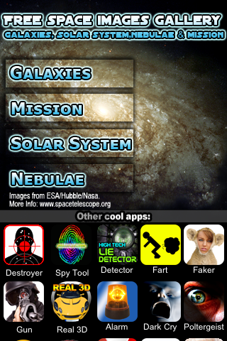 Free Space Images Gallery - Galaxies, Solar Sytem, Nebulae and Missionのおすすめ画像1
