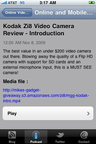 Screenshot of Online Video Marketing