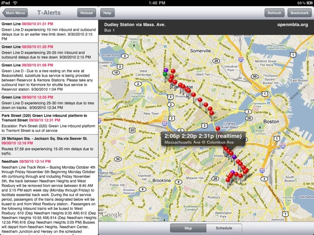 OpenMBTA for iPad on the App Store