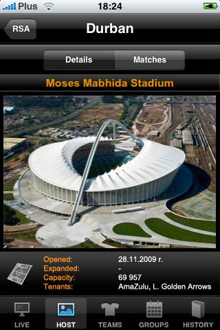 iSouth Africa 2010 Football Dream screenshot three