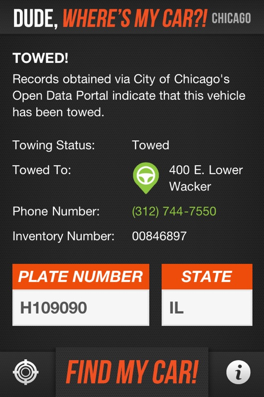 Towed Car Finder >> Dude Wheres My Car Chicago Towed Car Finder Online Game