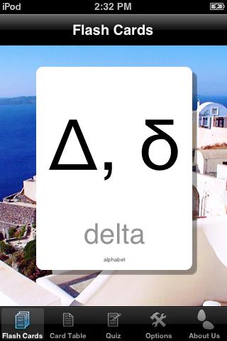 Greek Alphabet Cards screenshot one