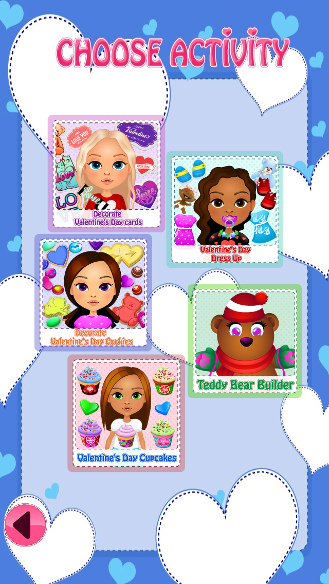 Valentines Day Playtime - Dress Up, Decorate Cookies, Teddy Bear Builder, Decorate Cupcakes, Decorate Cards screenshot two