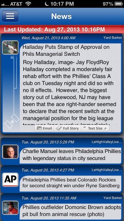 Philadelphia Baseball Live screenshot-3