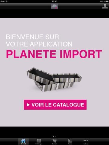 Screenshot of Planète Import