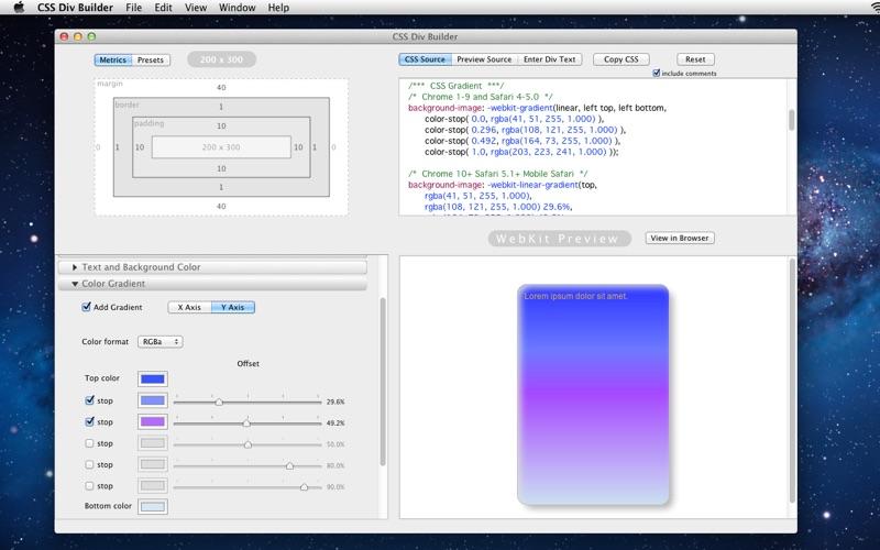 CSS Div Builder Screenshot