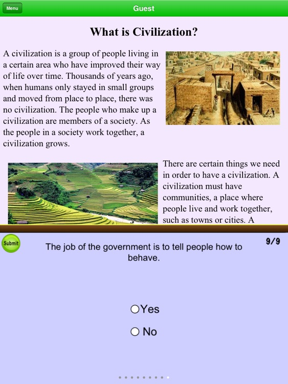 Third Grade - Fourth Grade Social Studies Reading Comprehension Free screenshot-3