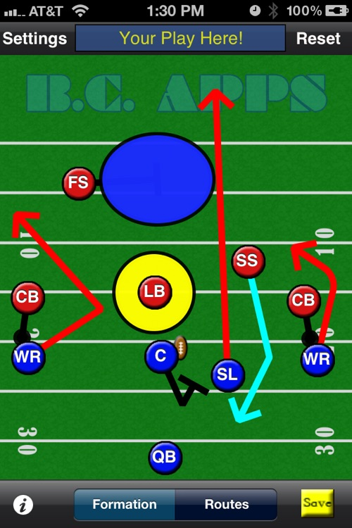 5-Man Flag Football Plays-Offense screenshot-4