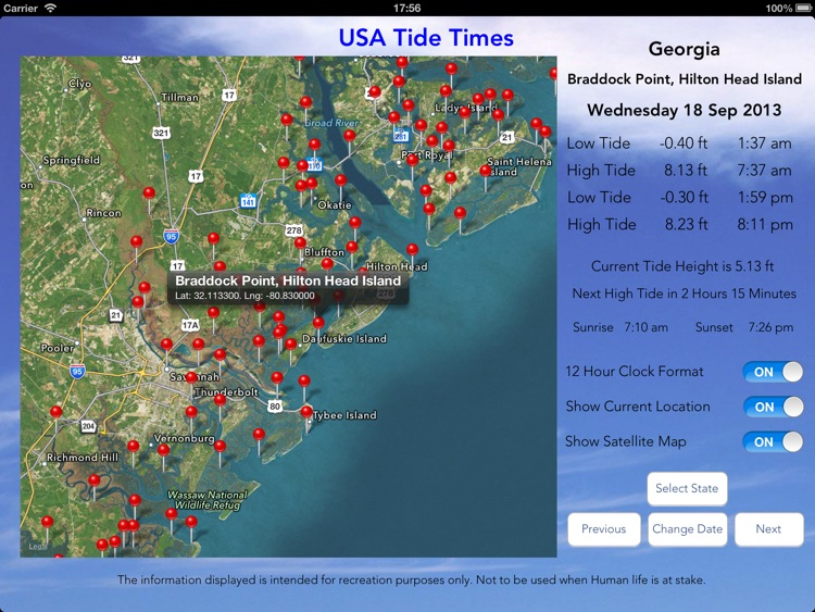 USA Tide Times Pro