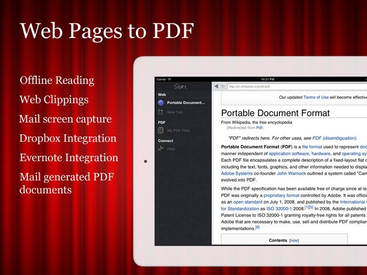 Start (Web to PDF + Browser)
