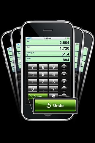 Screenshot of iMarkup - Markup Calculator