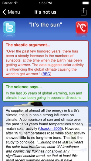 Skeptical Science Screenshot