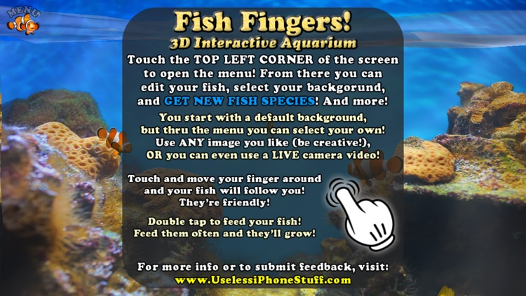 Fish Fingers! 3D Interactive Aquarium screenshot-3