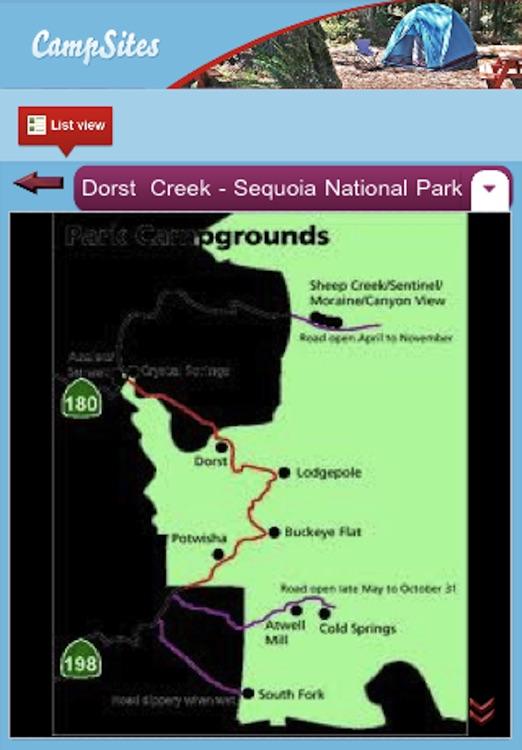 Camp: Californina Campsites screenshot-3