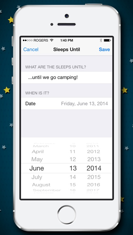 How Many Sleeps? Countdown to your Wedding, Vacation, Birthday, or Party! screenshot-3