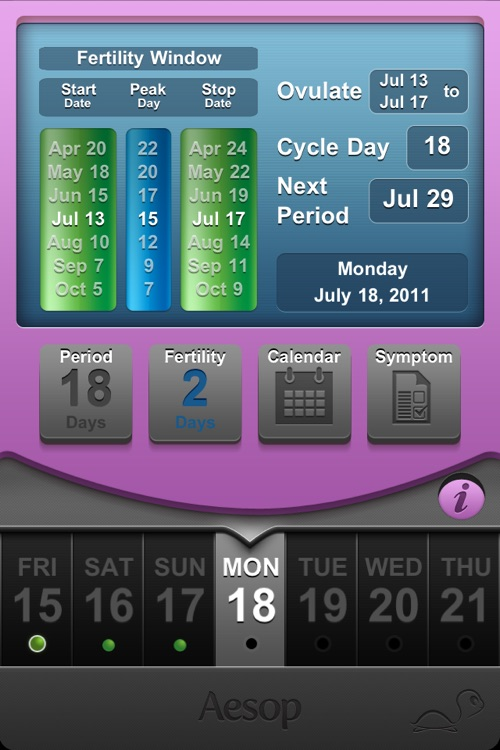 Fertility Clock: menstrual period + ovulation log screenshot-3