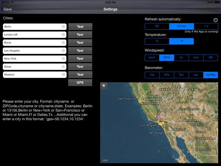 Weather Chalkboard Lite screenshot-4