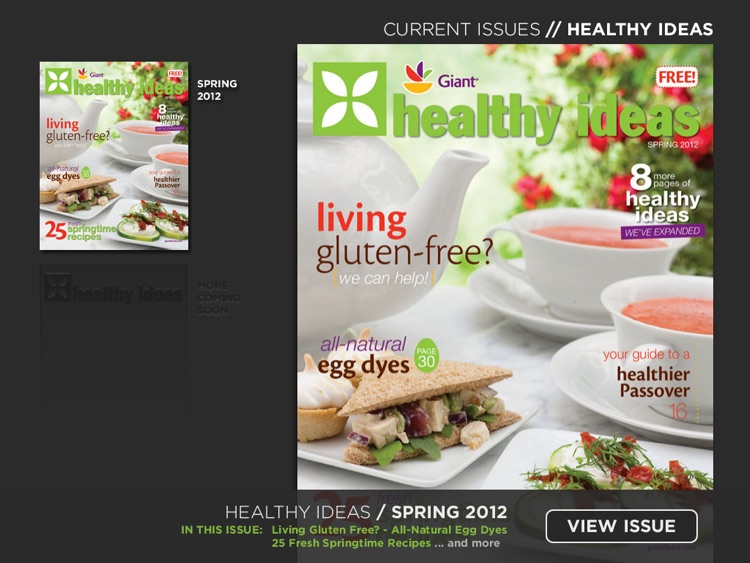 Healthy Ideas Magazine from Giant of Maryland, Virginia, and DC / District of Columbia