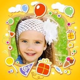 Kids Photo Frames & Stickers