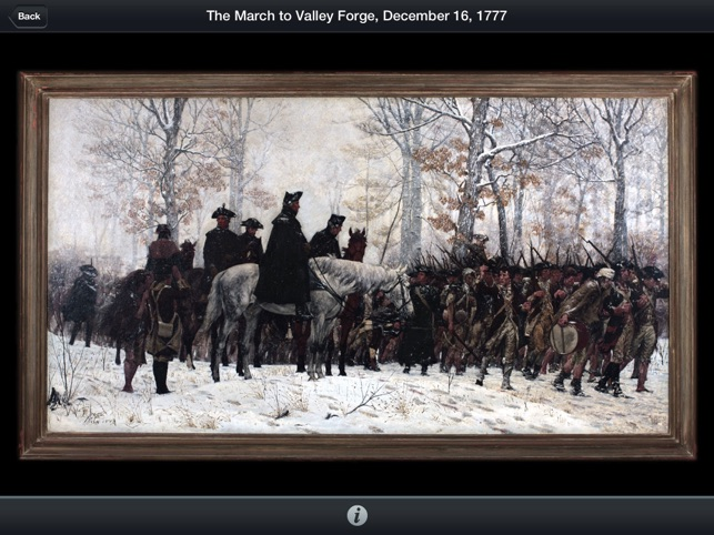 American Revolution Interactive Timeline for iPad Screenshot