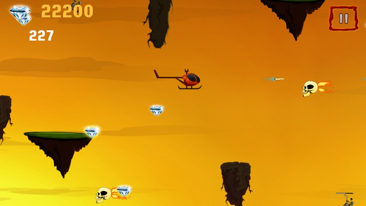 Helicopter crazy race in the valley of the death – A free flying diamond chase game screenshot-3