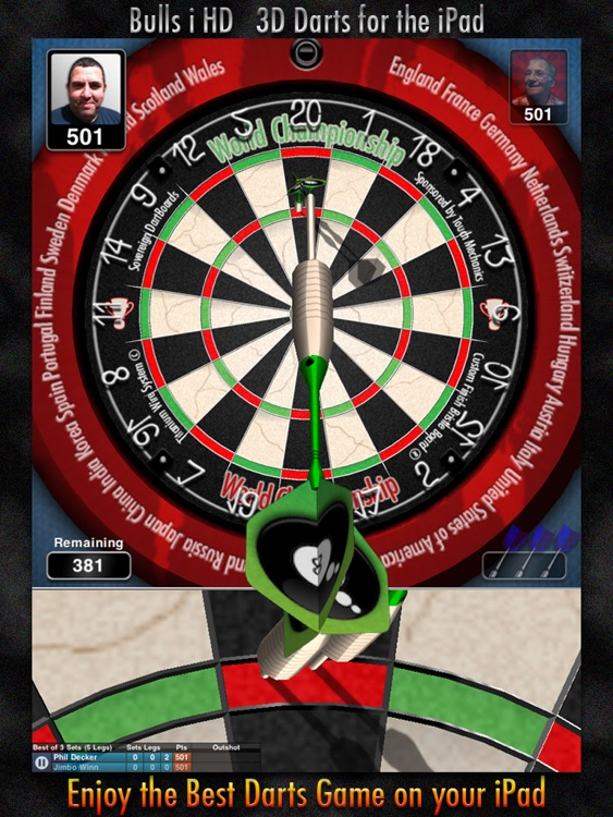 Bulls i 3D Darts HD screenshot-0