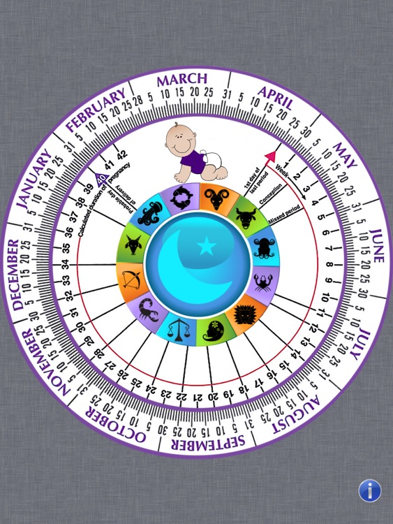 Pregnancy Wheel HD - Due Date Calculator screenshot-1