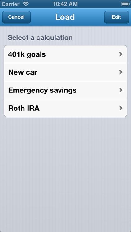 Savings Calculator - Retirement, College, Home, Car, & Vacation Goals screenshot-3