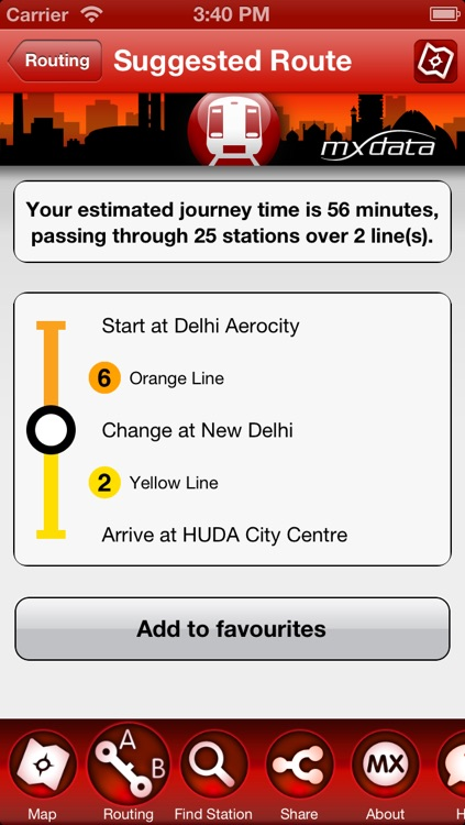 Delhi Metro - Map and Route Planner screenshot-3