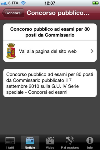 Screenshot for Polizia di Stato.it in Azerbaijan App Store