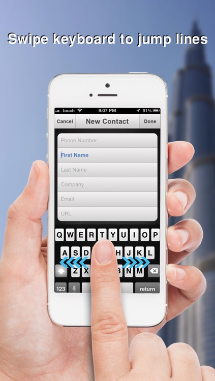 Swipe To iMessage or SMS - Tap to Call & Facetime - By ReachFast Contacts screenshot-4