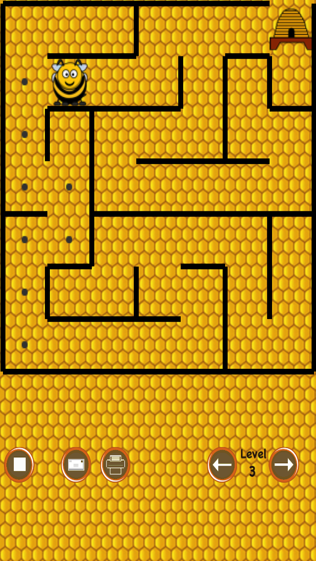 Beehive Maze Race (bee against the bear) screenshot three