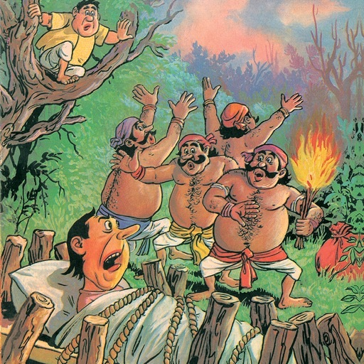 Funny Folk Tales Part 1 - Adventures of Baddu and  Chhotu- Amar Chitra Katha Comics